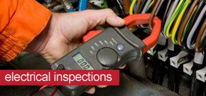 Engineer carrying out electrical inspection