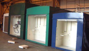 Selection of self bunded fuel tanks suitable for diesel or oil pumps