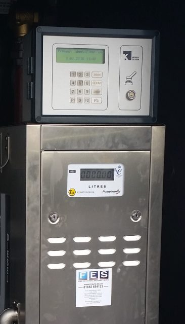 Kienzle Fuel Management System mounted on a Pumptronics Zeon fuel pump